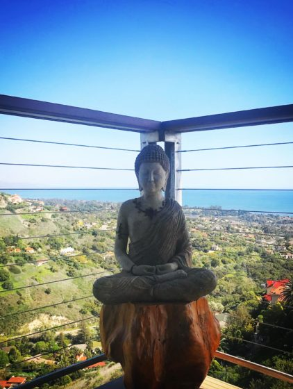 A Buddha, Garden Art, Patio, Ashley Farrell Landscape, Santa Barbara Landscape Contractors